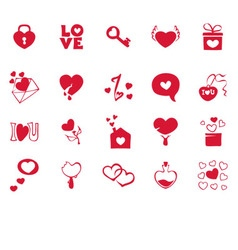 Collection icons for valentines day vector image