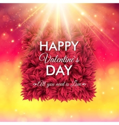 Colorful Happy Valentines Day card design vector image