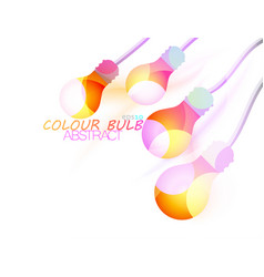 Colour bulb vector