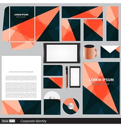 Corporate identity business set vector