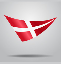 Danish flag background vector