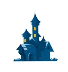 Dark castle of vampires on vector image