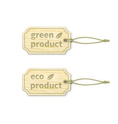 Eco tags set 15 vector image