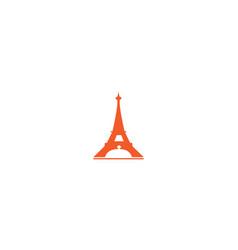 Eiffel tower paris icon with dessert food vector