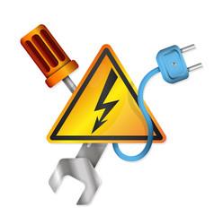 Electricity symbols vector