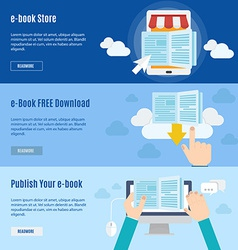 Element of ebook icon in flat design vector