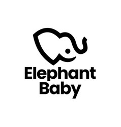 elephant baby logo icon vector image