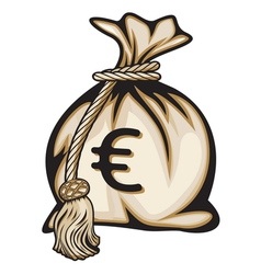 Euro money bag vector