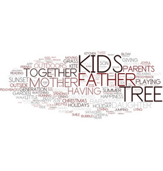 Family word cloud concept vector