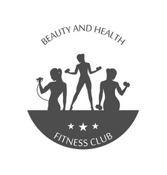 fitness club logotype sport style vector image