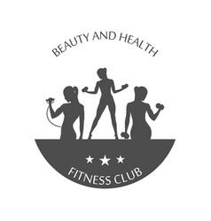 Fitness club logotype sport style vector