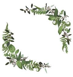 Floral bouquet design set green forest leaf vector