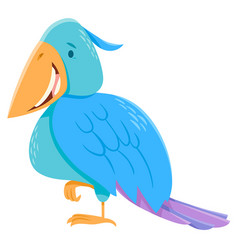 funny colorful bird cartoon character vector image