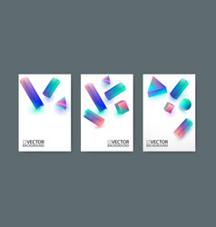 geometric trendy background placard flat and 3d vector image