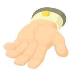 Human hand icon cartoon style vector