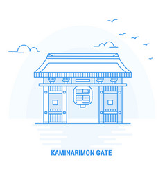 kaminarimon gate blue landmark creative vector image