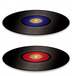 LP record album flat vector image