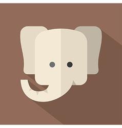 Modern Flat Design Elephant Icon vector image
