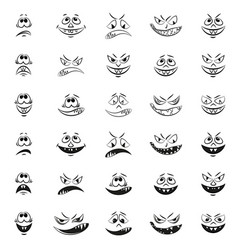 Monsters faces vector