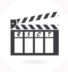 Movie clap icon vector image