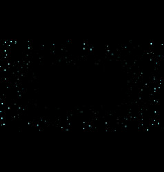 night sky with blue stars on black background vector image