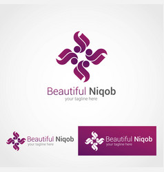 Niqob logo template vector