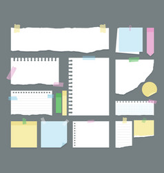 note paper stickers notebook vector image