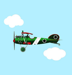 old biplane albatros vector image
