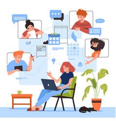 online meeting design vector image