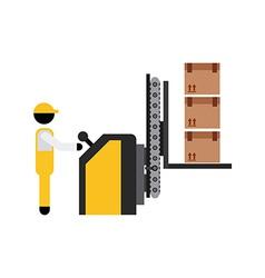 packing machine vector image
