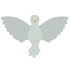 Pigeon peace front view on colorful silhouette vector