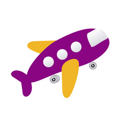 purple toy airplane fly icon vector image