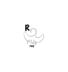 ray coloring page vector image