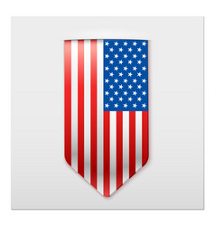 realistic ribbon of american flag vector image