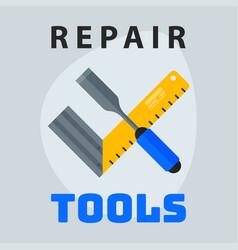 repair tools ruler screwdriver icon creative vector image
