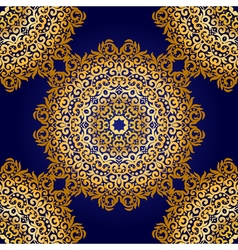 Rich gold seamless pattern in the Indian style vector