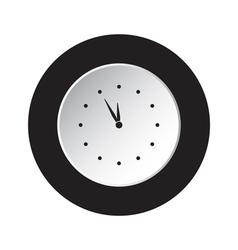 Round black white button last minute clock icon vector
