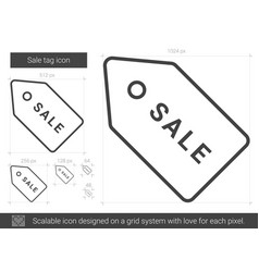 sale tag line icon vector image