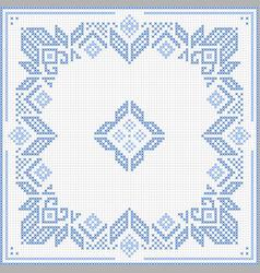 scandinavian cross stitch pattern vector image