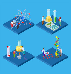 science chemical lab isometric laboratory vector image