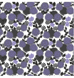 Seamless pattern with violet stylized flowers on vector