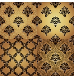 Set of Seamless Pattern In Damask style vector
