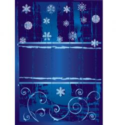 snow banner vector image