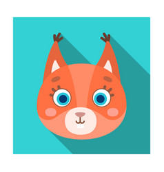 Squirrel muzzle icon in flat style isolated on vector