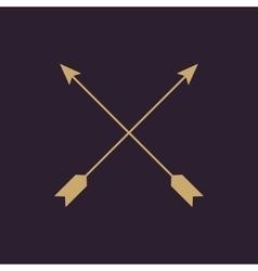 The arrow icon Arrows symbol Flat vector
