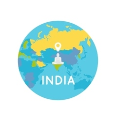 Travel India Conceptual Poster vector