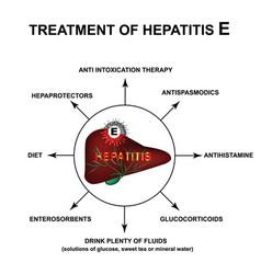 Treatment hepatitis e world hepatitis day vector