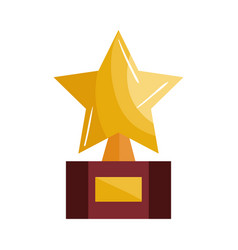 trophy award star icon vector image