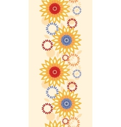 Warm vibrant floral abstract vertical seamless vector image