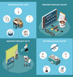 Weather forecast concept icons set vector